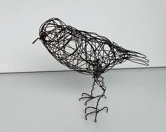 Original Handmade Wire Bird Sculpture - LAVANYA