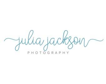 Script logo - Calligraphy Logo - Photography Watermark - Premade Typography Logo - Watermark Photography Logo