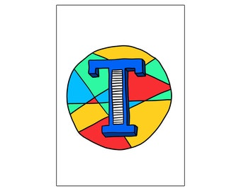 T | printable miniposter A4 and US letter format | by-laura