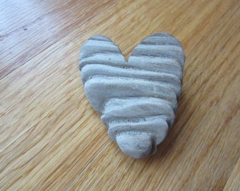 Unusual Driftwood Heart Shaoped Cut Out Driftwood Texture Patina One of a Kind Handcrafted Love Valentine Gift