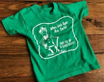 Vintage Little Kids Babys Irish Tshirt