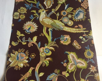 Vintage Wallpaper-1960s Regal Floral with Birds by Schumacher-by the yard