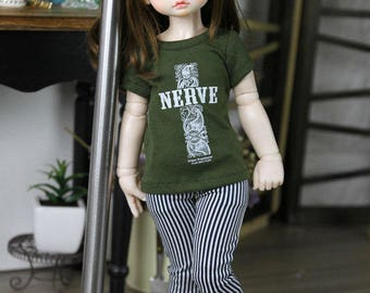 SAYOKO outfit for LUTS dollfie 1/4 BJD Doll - T-Shirts - Green (No.A636)