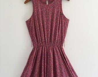 Vintage 80's Does 50's Pink Full Skirt Dress M