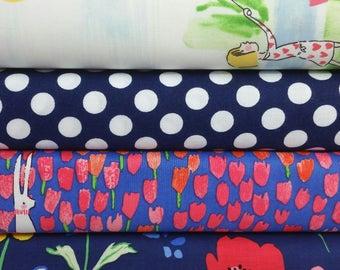 Sommer Double Border Print Bundle - (4 Fabrics)