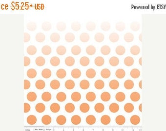 """END OF BOLT - 9.5"""" X 44"""" - Orange Ombre Dots From Riley Blake"""