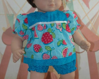 American, made, girl, baby, doll, clothes, bitty, shorts, shirt,