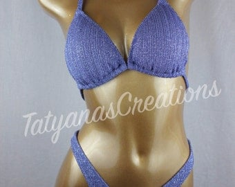 In Stock : Antique Blue Glitter Slinky Figure suit C cup Small Bottom.
