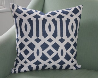 SECOND Kelly Wearstler Imperial Trellis Navy Cushion Cover