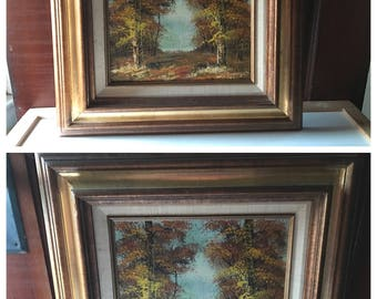 Set of 2 Scenic Vintage Oil Paintings