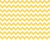 SHOP CLOSING SALE Fat Quarter Fabric for quilt or craft Riley Blake Small Chevron in Yellow Fat Quarter