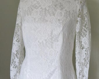 50s Wedding Dress size Large