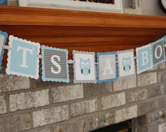 Owl It's A Boy Banner, Owl Baby Shower Banner, Owl Theme, Owl Banner, Owl Sprinkle, You Select the Colors,