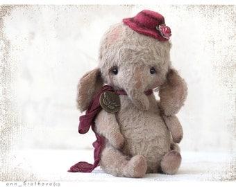 Artist Teddy Mini Elefant OOAK Ellice 13 cm