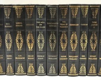 Lot of 11 Faux Leather Heron Published Fiction Novels (7-010-379)