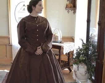 Civil War Brown Day Gown