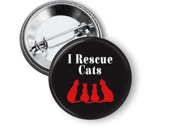 Cat Rescue Button/ Animal Rescue Button/ Animal Rescue Magnet/ Cat Rescue Magnet B62
