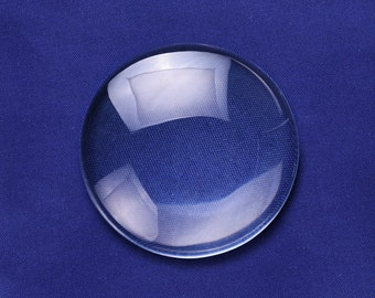 10PCS 60MM Round Flat Back clear Crystal glass Cabochon 13MM Thick 10149050
