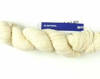 Malabrigo Merino Lace yarn in colorway Natural, #063. Natural color.