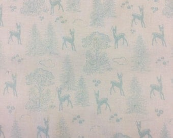 Riley Blake Woodland Spring pattern c4991 in aqua by the half metre