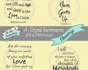 We Are 3 Digital Shop - Blessings Sentiments,  Transparent Digital Image