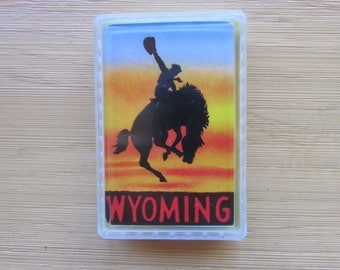 Vintage Wyoming Playing Cards