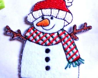Iron On Patch Applique - Snowman,