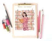 The Reader A4 Art Print
