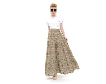 Maxi Skirt with pockets, ruffle maxi skirt, Party Outfits, maxi skirt boho, Gypsy Skirt, stylish and fashionable