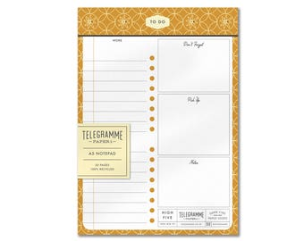 To Do List A5 recycled notepad