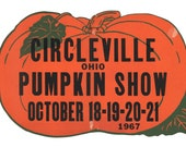 Large Circleville Ohio Pumpkin Show poster 1967
