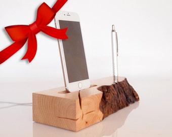 iPhone Dock - Pen Holder - desk accessory / office accessory / office organizer - iPhone 6 plus dock - iPhone 7 plus dock