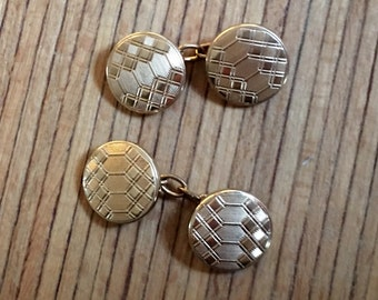 Art Deco Cuff Links Gold Plated Cuff Links For Any Great Occasions Art Deco French Accessories Brand OLYMPIC