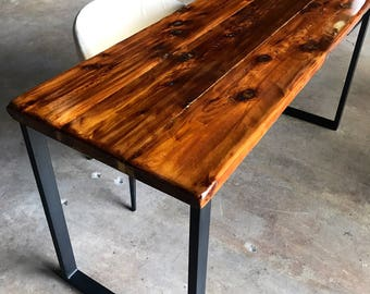 Reclaimed Wood & Steel Desk