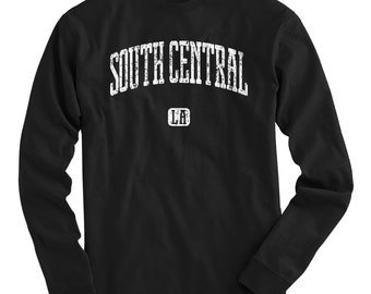 LS South Central Los Angeles Tee - Long Sleeve T-shirt - Men S M L XL 2x 3x 4x - Gift for Men, South Central Shirt, LA, Florence, Watts,