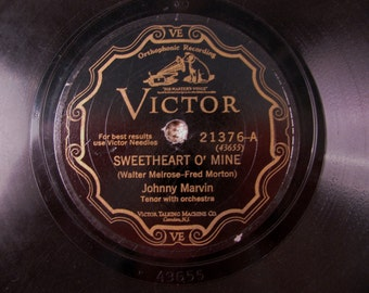 1921 Fox Trot classic Sweetheart o' Mine 78 rpm plays fine
