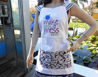 Personalized Apron, Custom Embroidered Bib Apron, Baker's Apron, Crafter's Apron, Handmade Cooking Apron, Coverup, Kitchen Apron w/ Sayings
