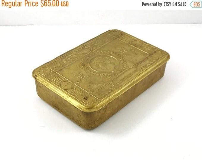 25% OFF Antique WW1 Princess Mary 1914 Christmas Gift Brass Tin, Brass Christmas Box.