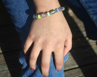 Multi Color Furnace Glass Bracelet