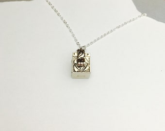 Vintage silver Prayer Box PENDANT/Necklace, Love Box, wish bix, Shabby Chic, item no. 339