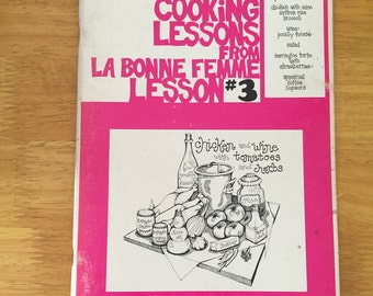 """French Recipes   Cookbook   1970s """"A Series of French Cooking Lessons"""" From La Bonne Femme Lesson #3"""