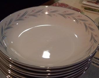 Eight Vintage Soup Or Cereal Bowls ~  MODAR Japan Fine China Dinnerware Mid Century Modern 7243