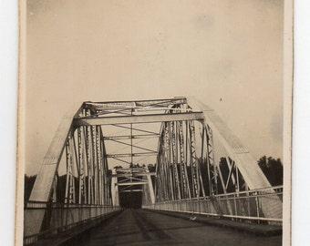 Vuosaaren Silta Vintage Snapshot Bridge In Finland Travel Souvenir Antique Photo Black And White Photograph Paper Ephemera Finnish Bridge