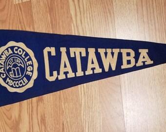 Catawba College Pennant, Salisbury, North Carolina, Very Nice, ca 1930