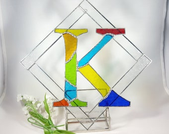 Stained Glass Initial K