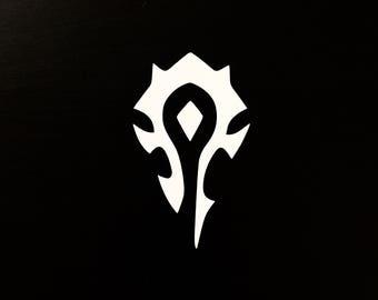 Horde Symbol WoW World of Warcraft Decal | Sticker | Vinyl | Car, Wall, Window or Laptop Decoration
