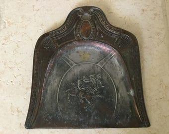 Vintage Copper Color Silent Butler / Crumb Tray
