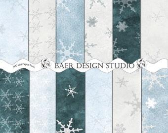 Digital Paper Christmas, Digital Paper Winter, Snowflake Digital Paper, Silver Snowflake Digital Paper, Blue Snowflake Digital Paper #111616