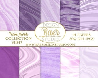 Purple Digital Paper, Purple Marble Digital Paper, Digital Paper Commercial Use, Scrapbook Paper, Mauve Digital Paper, Planner Paper