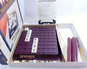 1980s, Vintage Games, Board Games, Board Game Decor, Upwords, Milton Bradley, Vintage Board Game, Family Game Night, 3D Word Game